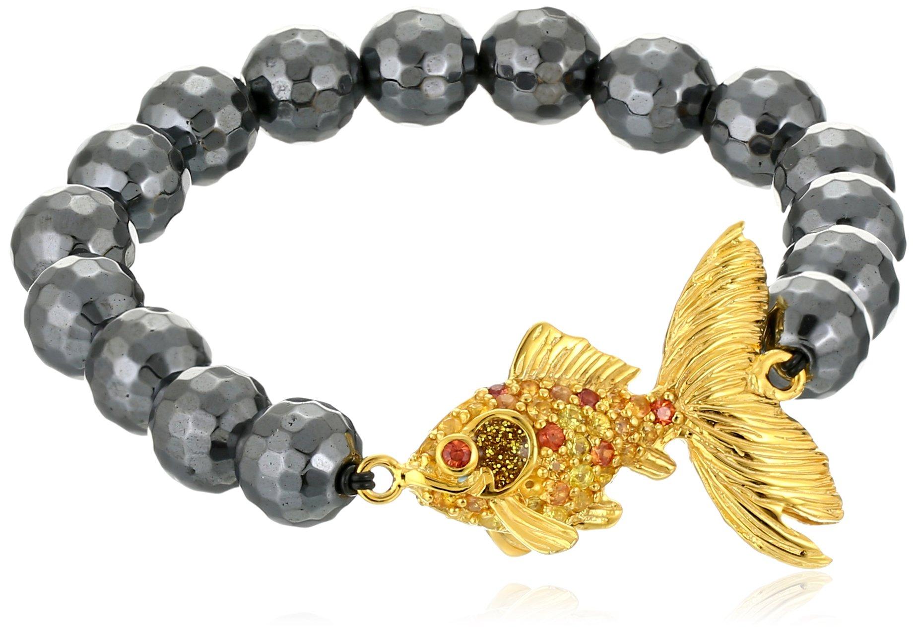 M.C.L by Matthew Campbell Laurenza Goldfish Warm Mix Beaded Stretch Bracelet, 2.5''