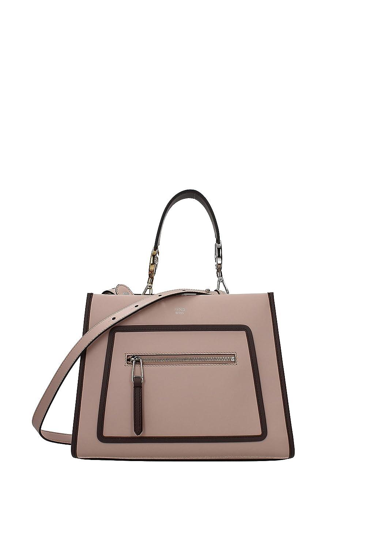 15b985080603 Amazon.com: Fendi Shopping Bag Runaway Calf Leather Soap + tan/brown ...