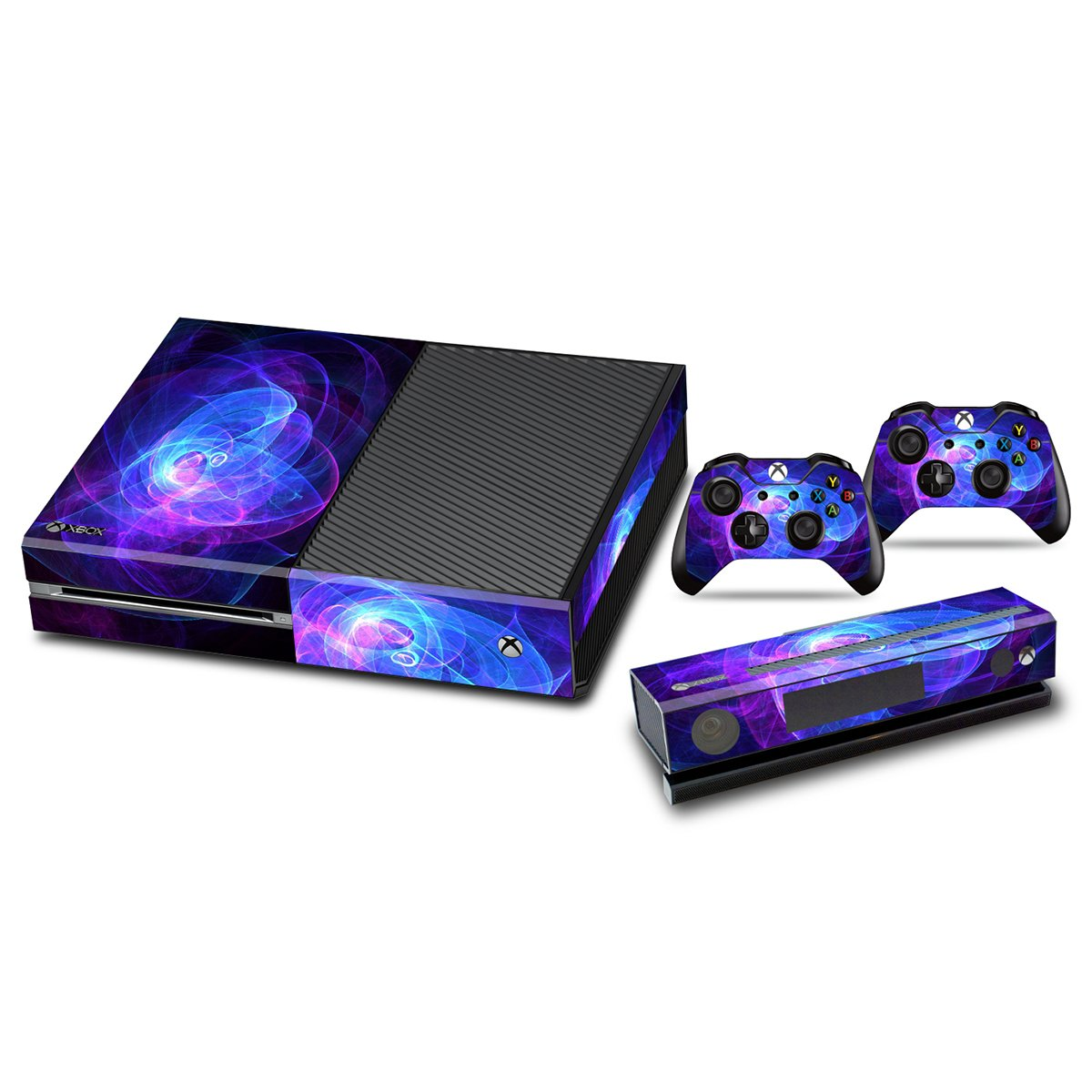 Stickers for Xbox One Console Skins Xbox One Games Accessories Sticker  Decals with Two Free Wireless Controller Decals - Blue Purple Lines:  Amazon.co.uk: PC ...
