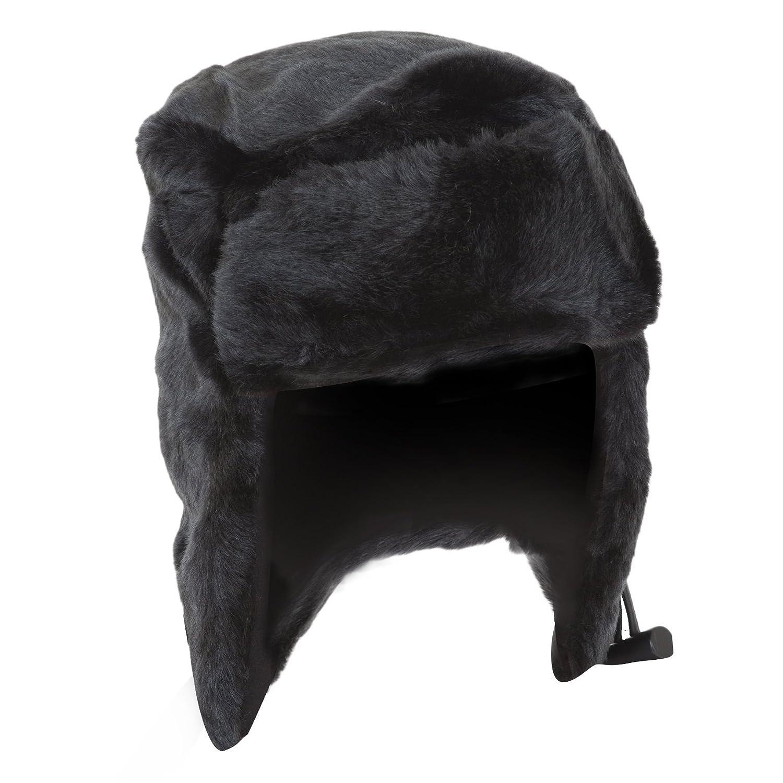 Herren Kunstfell-Skimütze mit Verschluss