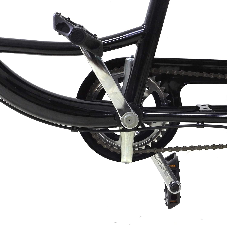 Tricycle Adulte 20 Pouces Tricycle Adulte Noir avec Panier Tricycle pour Adultes avec Si/ège Enfant V/élo /à 3 Roues /à Une Vitesse