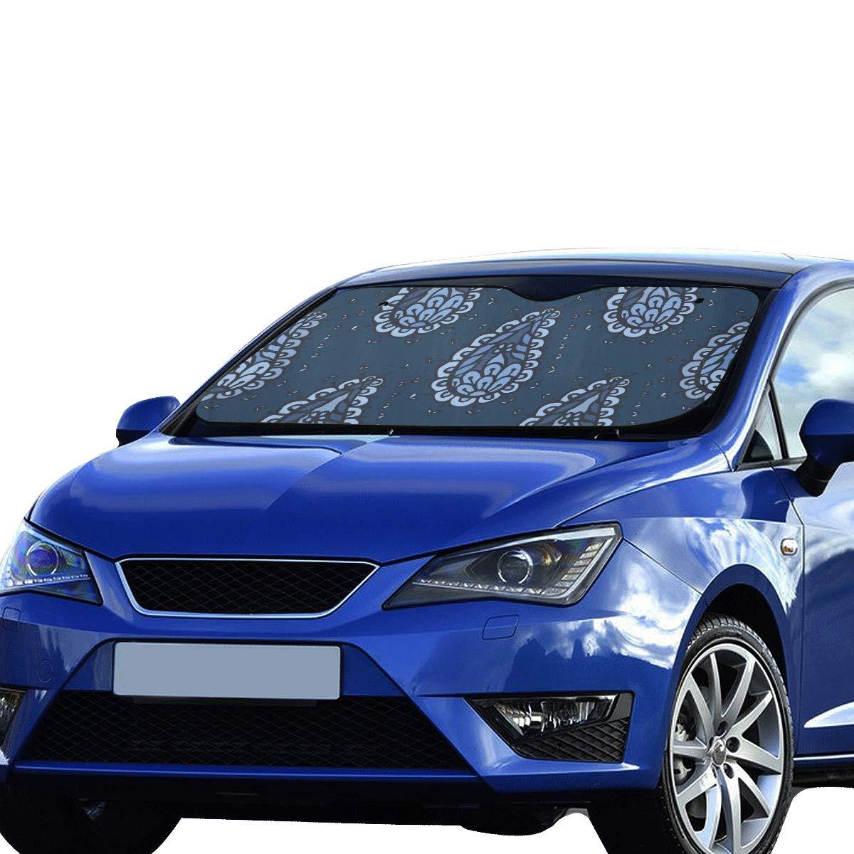 Amazon.com: GGKDL Car Sun Shade Front Windshield Indigo Blue ...