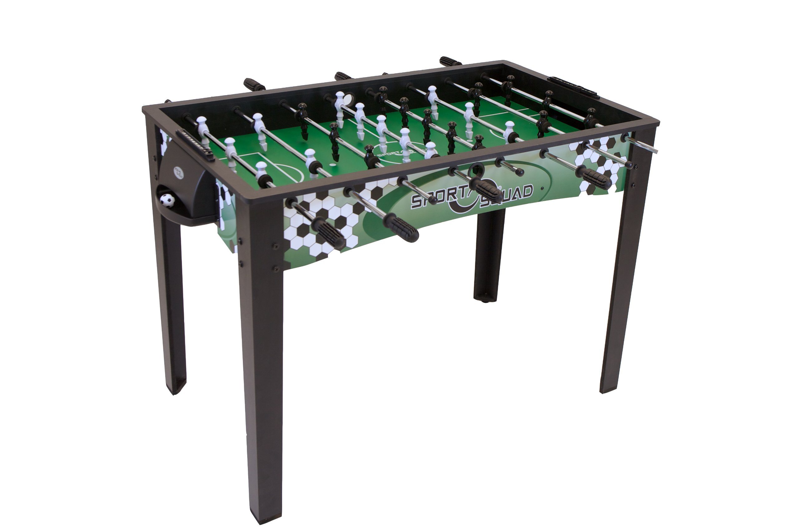 Sport Squad FX48 - 48'' Foosball Table for Adults and Kids - Arcade Table Soccer Game for the Basement or Game Room - Quick and Easy Assembly - Manual Scorers and Chrome Plated Steel Rods by Sport Squad