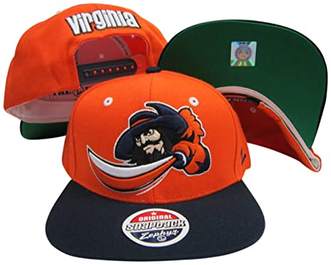 7fd07bd34f0 Image Unavailable. Image not available for. Color  Virginia Cavaliers Orange  Navy Refresh Two Tone Plastic Snapback Adjustable Plastic Snap Back Hat