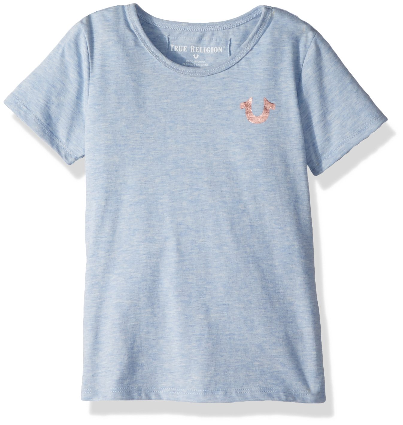 9fd026aa3 Galleon - True Religion Toddler Girls' Fashion Short Sleeve Tee Shirt,  Light Blue Heather, 2T