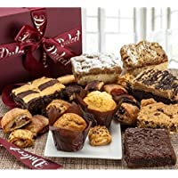 Dulcet Gift Basket Deluxe Gourmet Food Gift Basket: Prime Delivery for Holiday Men and Women: Includes Assorted Brownies…