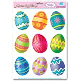 Easter Egg Clings Party Accessory (1 count) (9/Sh)