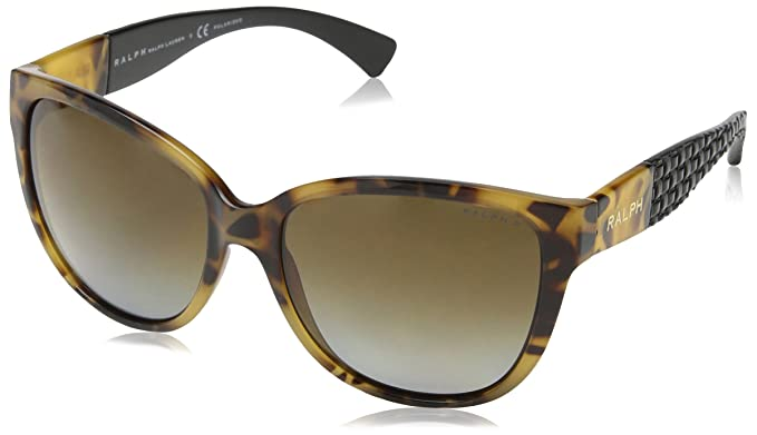 Ralph By Ralph Lauren Essential Flared Square Sunglasses in Black RA5181 501/11 57 Ralph Lauren hUpHLQ