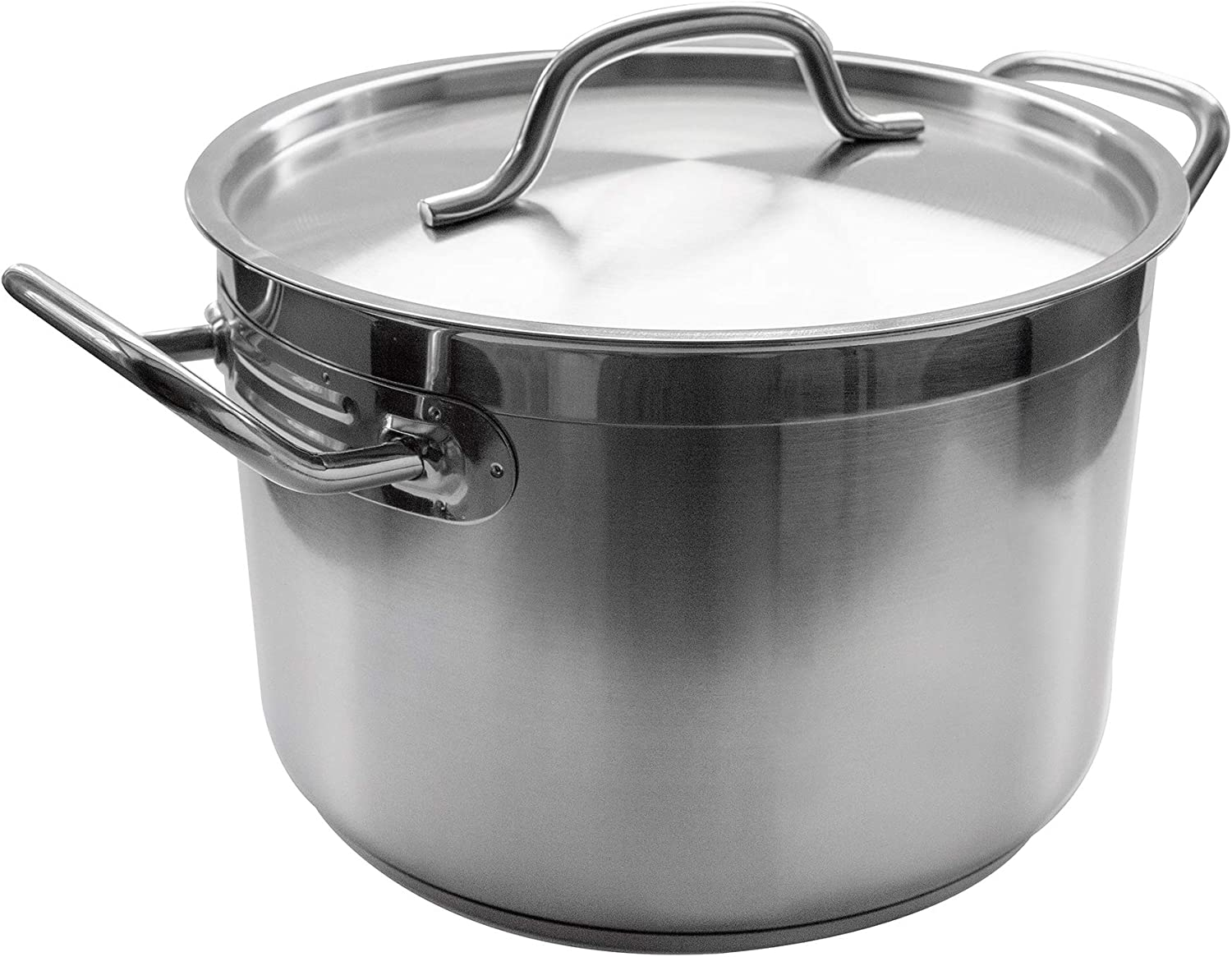 Update International 80 Qt Induction Ready Stainless Steel Stock Pot w/Cover