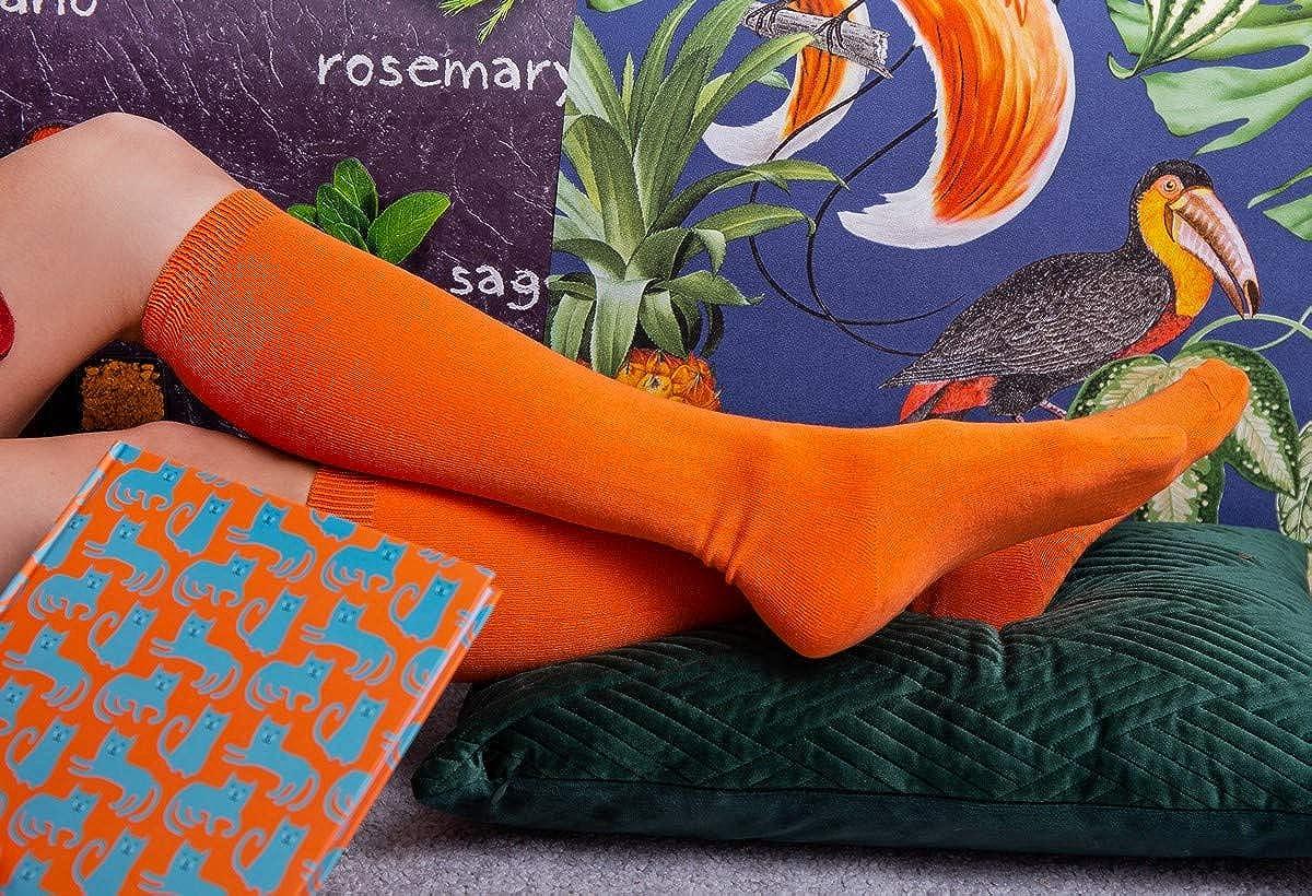 Rainbow Socks Woman Man Bamboo Knee-High Socks