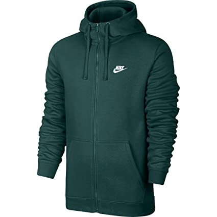 d6be78546 Image Unavailable. Image not available for. Color: Nike Club Fleece Men's  Sportswear Full Zip Hoodie Green/White 804389-375 ...