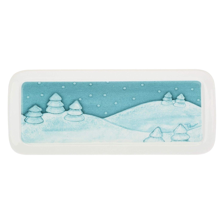 Set aus Porzellan TablettDolce inverno37x15,5 cm mit 3 Sch/üsseln THUN /®