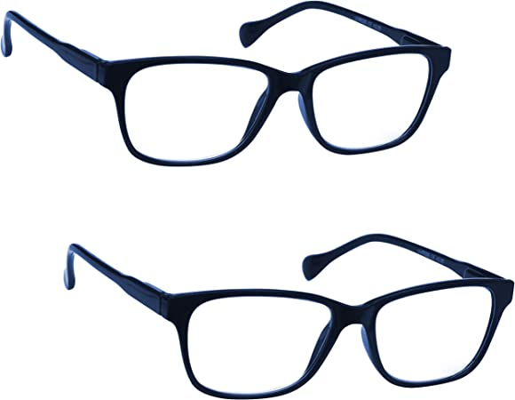 Uv Reader Azul Marino Ligero Gafas De Lectura Valor Pack 2 Estilo Diseñador Hombres MujeresCaso Uvr2Pk027 +1,50 2 Unidades 70 g