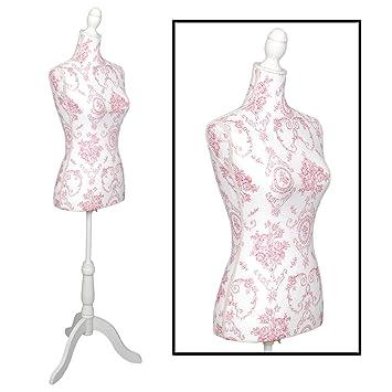 Maniquí de estilo clásico blanco para mujer de talla 36/38 con elegante patrón de