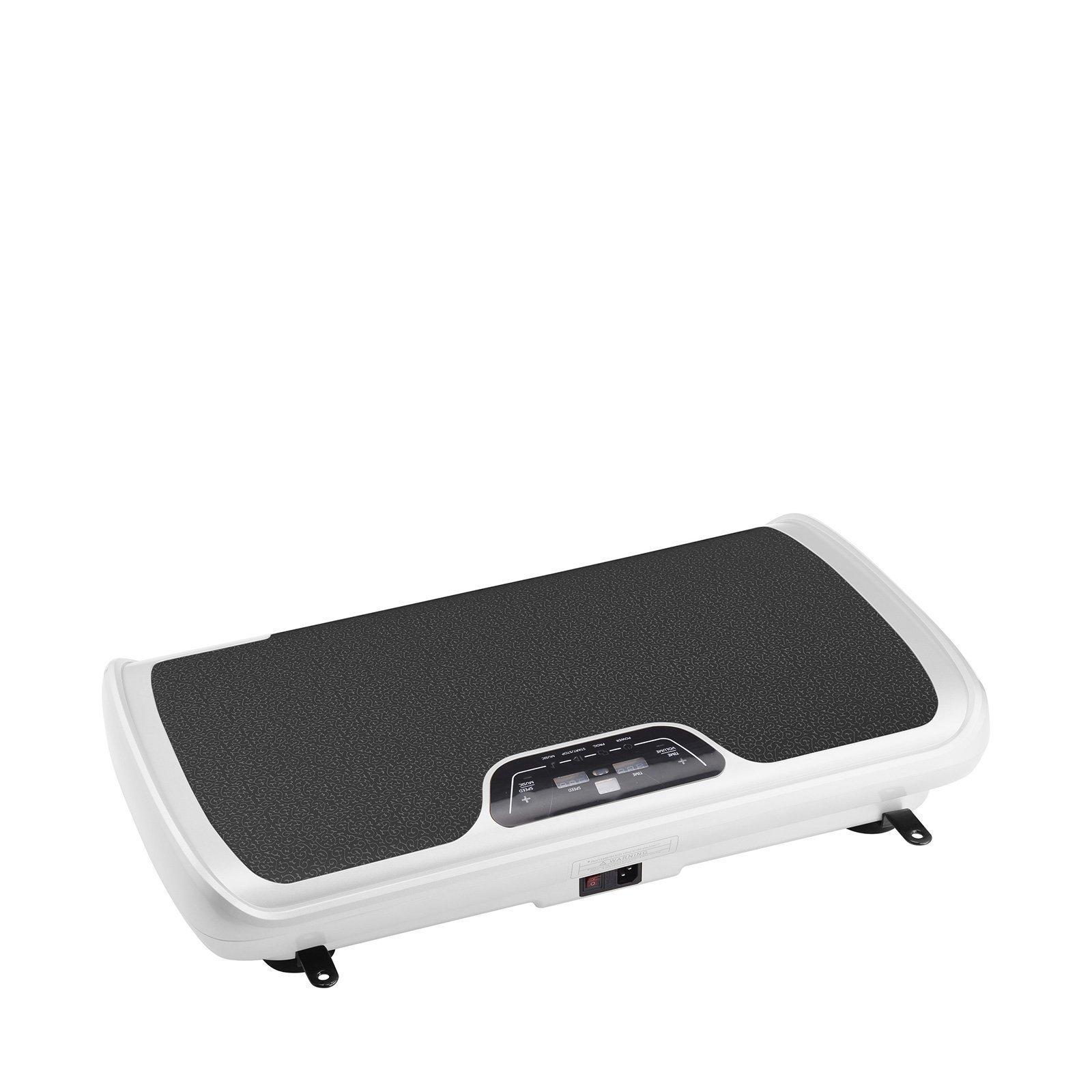 VibroSlim Tone Vibration Platform Fitness Machine, Oscillating Vibration Trainer + Free Workout DVD, Wall Chart & Resistance Bands (White) by VibroSlim (Image #3)