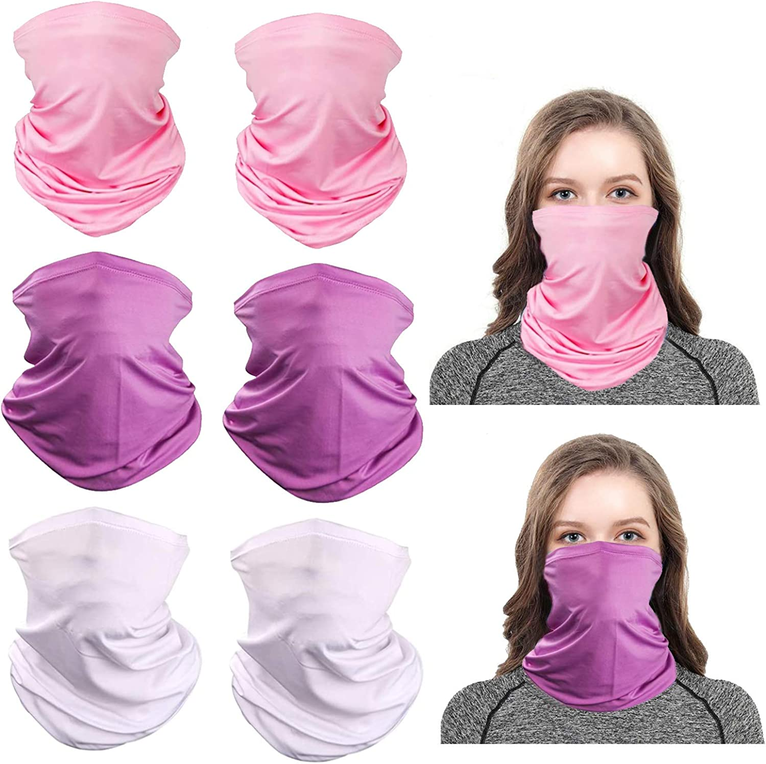 Cooling Neck Gaiter Bandana Face Mask Scarf Neckerchief Headwear for Dust Outdoors Cycling Women Men Multipack Summer