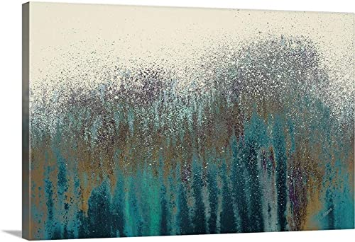 Teal Woods Canvas Wall Art Print