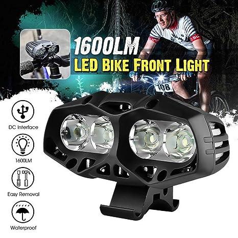 Lumens Led Rechargeable Xml Vélo Lumières Puissante Mode De 4 Lampe Luminositénoir T6 Vtt 22000 4x dtCrshQ