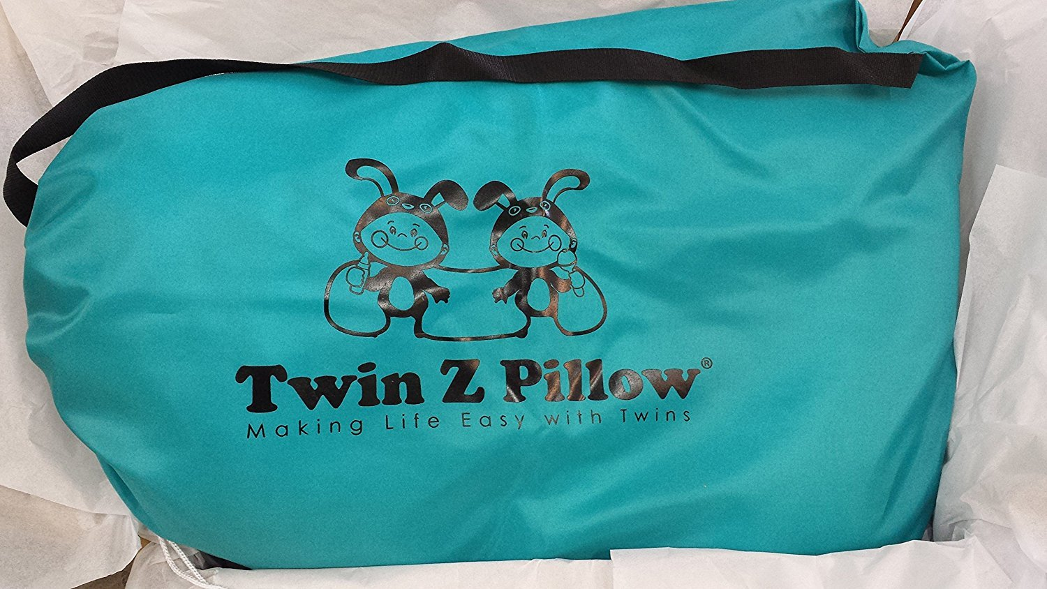 Twin Z Pillow + 1 Grey cuddle cover + FREE Travel Bag! by Twin Z PIllow