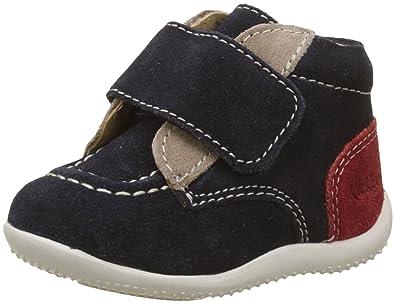 5601871a40215e Kickers - 321836 - Bono - Basket - Mixte Bébé - Bleu (Marine Beige Rouge