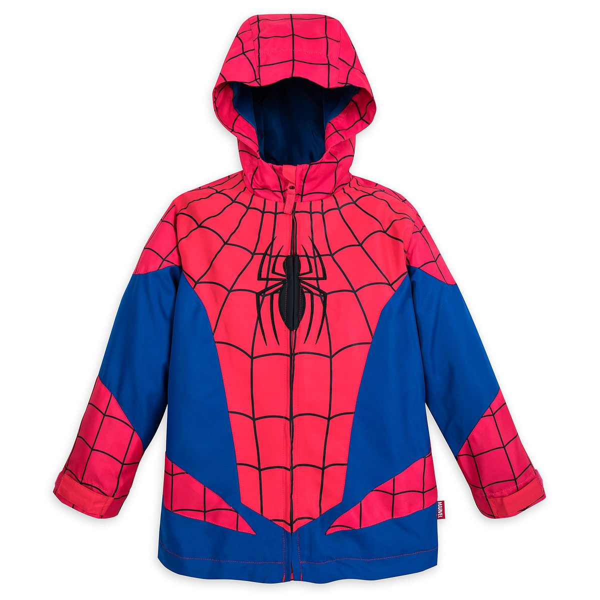 Disney Store Deluxe Spider Man Spiderman Rain Jacket Coat Vest Small 5-6 5T