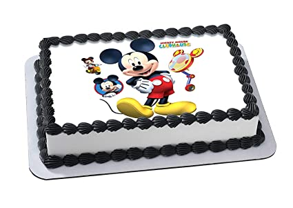 Amazoncom Mickey Mouse Edible Image Cake Topper Icing Sugar Paper