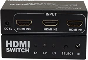 J-Tech Digital 4-Port High Speed HDMI Auto Switch with PIP IR Wireless Remote and Power Adapter