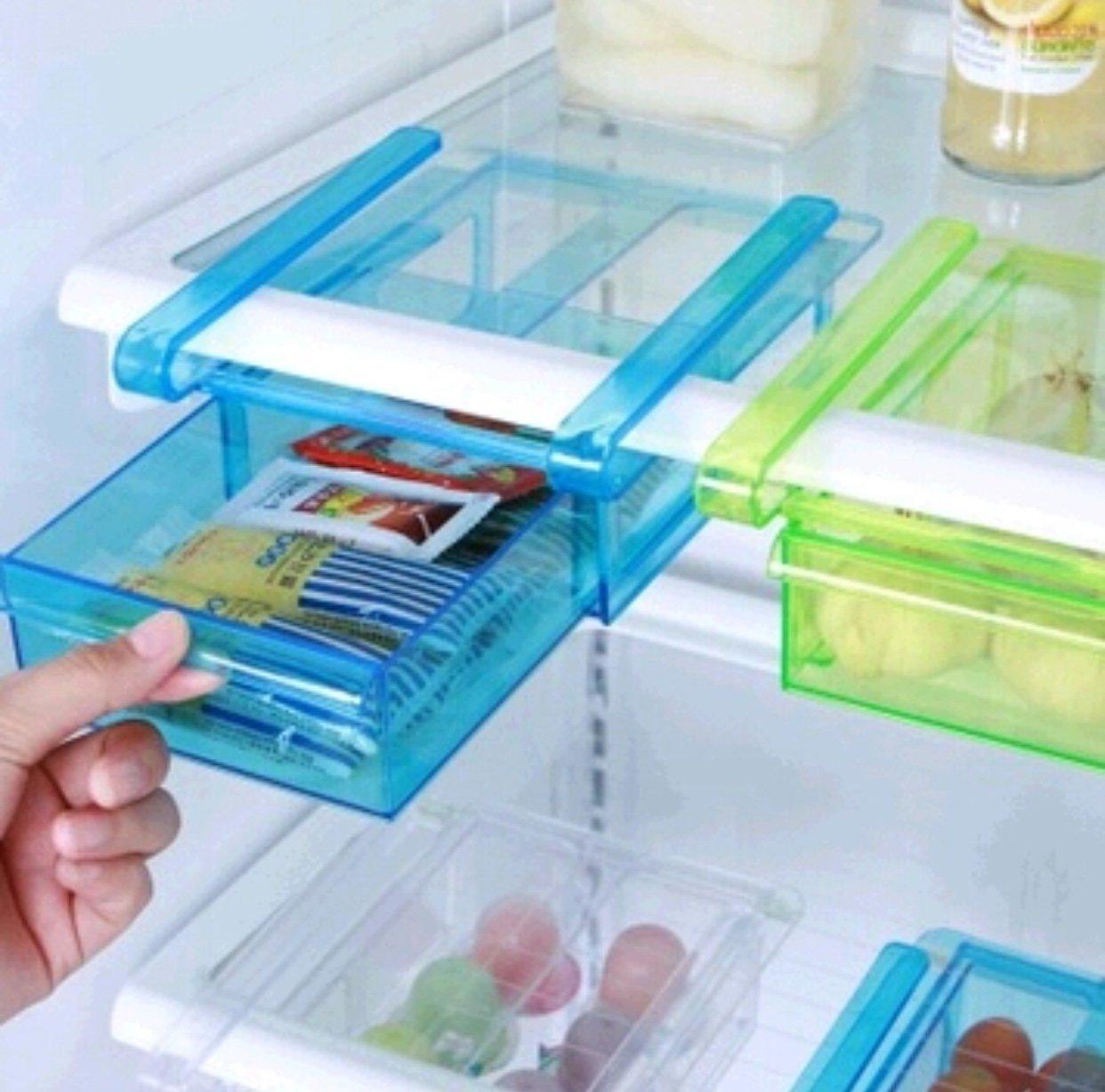 便利な吊り下げ式冷蔵庫引き出し。   B07FC392K1