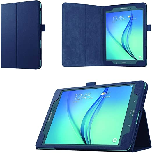 Asng Etui folio Samsung Galaxy Tab A 9.7 – Housse en cuir vegan pour Samsung Tab A Tablette 24,6 cm SM-T550, SM-P550 (avec fonction veille/réveil ...