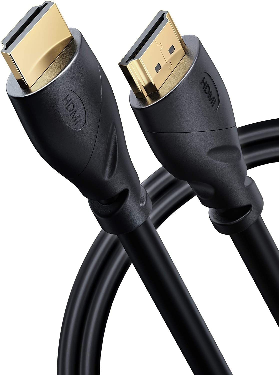 PowerBear 4K HDMI Cable 6 ft   High Speed, Rubber & Gold Connectors, 4K @ 60Hz, Ultra HD, 2K, 1080P & ARC Compatible for Laptop, Monitor, PS5, PS4, Xbox One, Fire TV, Apple TV & More