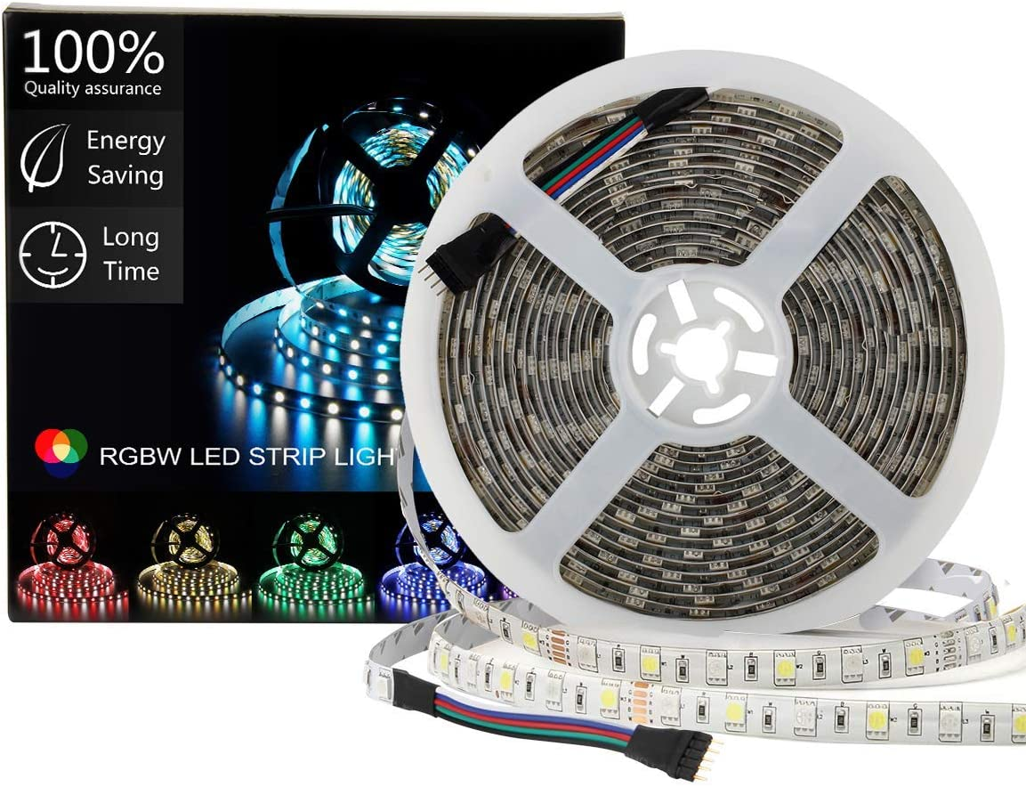 5m 600 LED strip Tape Light SMD 5050 RGB RGBW RGBWW waterproof Decor rope lamp