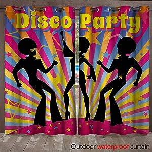 Plantty Siluetas de Fiesta de los años 70 con Pelo Afro, diseño de ...