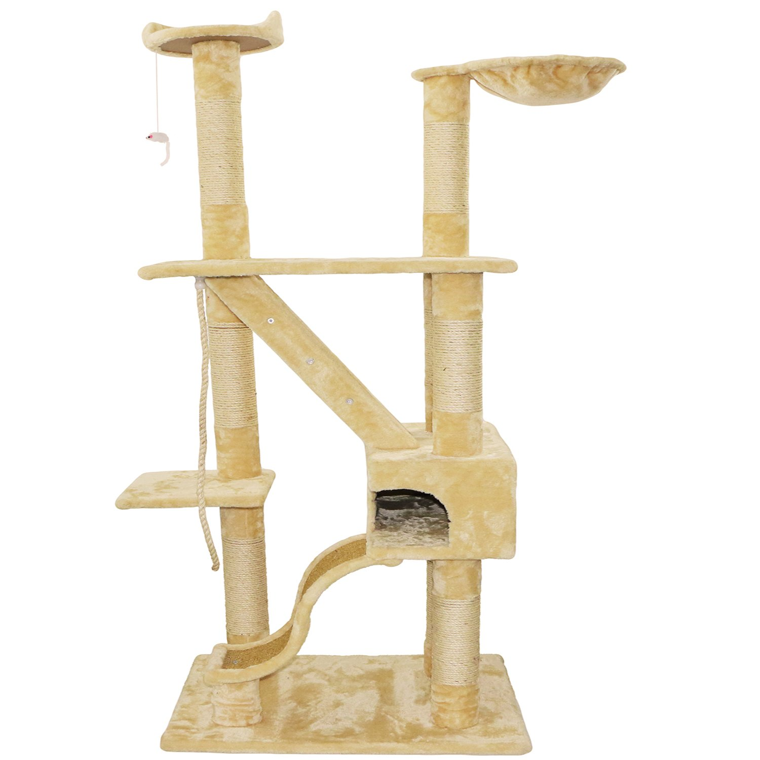 Walcut 74.8''Height Cat Tree Condo Furniture Scratcher Post Play Toy For Big Cats