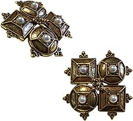 Gatsby Era Style Studs Earrings, Vintage Fashion Earrings, Silver Like Jewelry