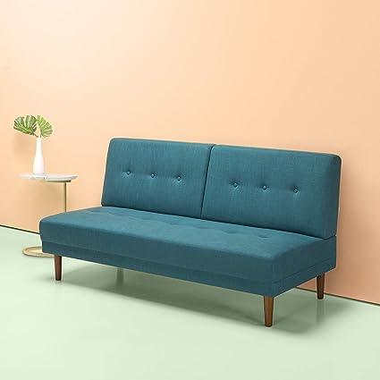 Amazoncom Zinus Juan Mid Century 65 Inch Armless Sofa Living
