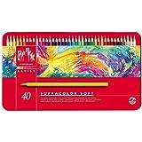 Caran d-Ache SUPRACOLOR Soft Aquarelle 40 - Lápiz de color (Multicolor, Rojo) 599 grams