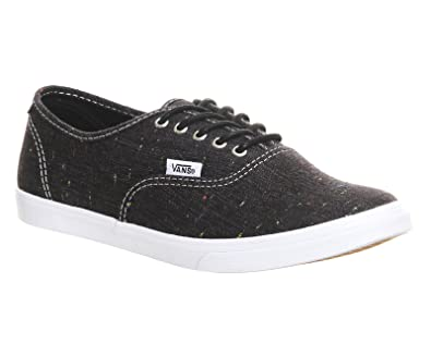 vans authentic lo pro italian leather black