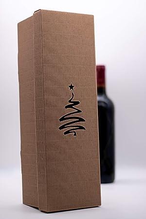 Tekla Crafts - Caja de cartón corrugado para vino Brown#2 ...