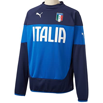 Puma Sweatshirt Figc Italia Sweat - Sudadera de fútbol para hombre, color azul, talla