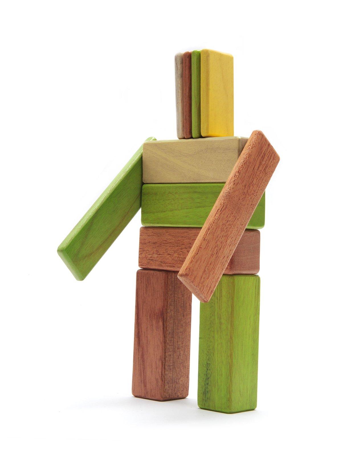 22 Piece Tegu Endeavor Magnetic Wooden Block Set, Jungle by Tegu (Image #5)
