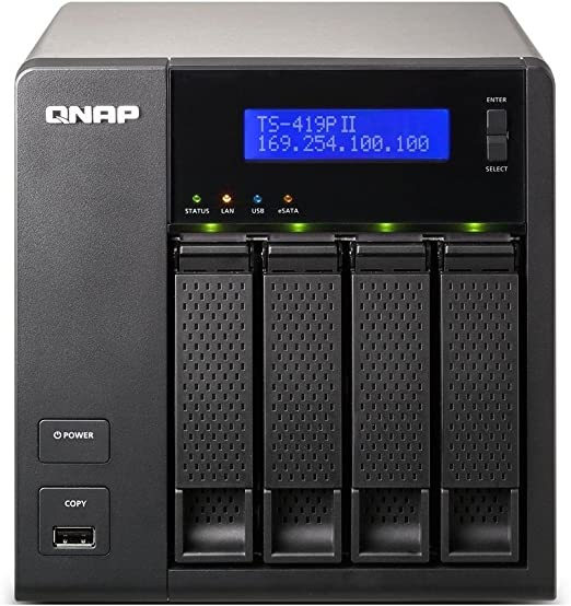 QNAP(キューナップ) Systems Inc. TurboNAS TS-419PII HDD-Less Model TS-419PII