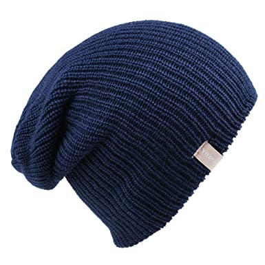 c517dd6479e68a Slouch Beanie Hats for Men - Wool Knit Beanie Hats for Women (Wear as Slouch