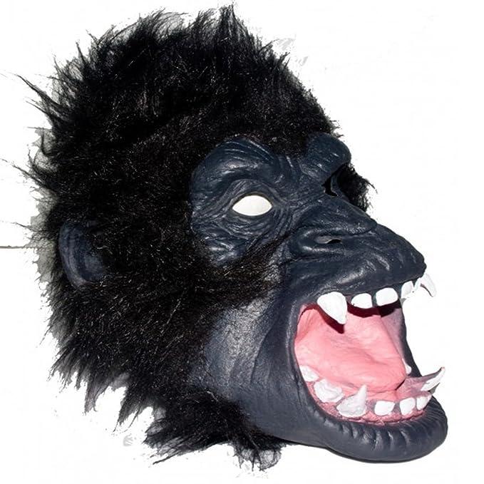 Realista de la máscara de goma adultos traje de gorila: Amazon.es ...
