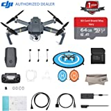 DJI Mavic Pro Quadcopter with Remote Controller, 64GB Micro SD With Adapter, Landing Pad, Microfibre Cloths, With 1-Year Warranty - Gray(CP.PT.000500)