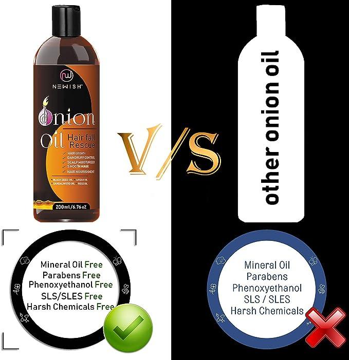 Newish - Aceite de cebolla roja para el crecimiento del cabello, para hombres y mujeres, 200 ml: Amazon.es: Belleza