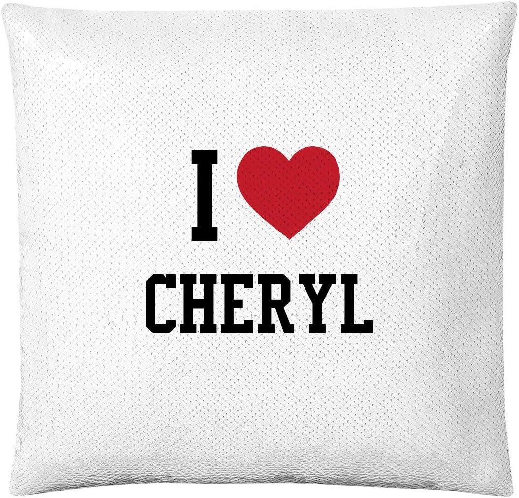 FunnyShirts.org I Heart Cheryl Pillow: Flip Sequin Pillow Cover