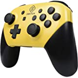 Yeegewin Replacement Shell Case for Switch Pro Controller, Colorful Anti-Slip Hand Grip Shell Cover Super Switch DIY Faceplate and Backplate Case Yellow Yellow