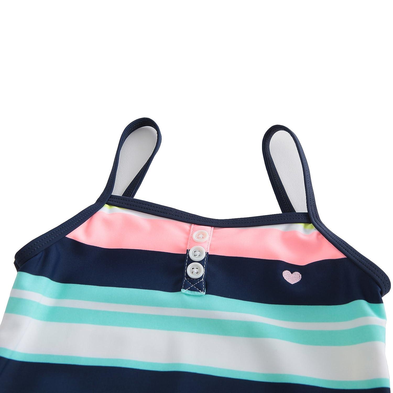 HowJoJo Girls One Piece Swimsuit Striped Rainbow Swimwear Beach Bathing Suit