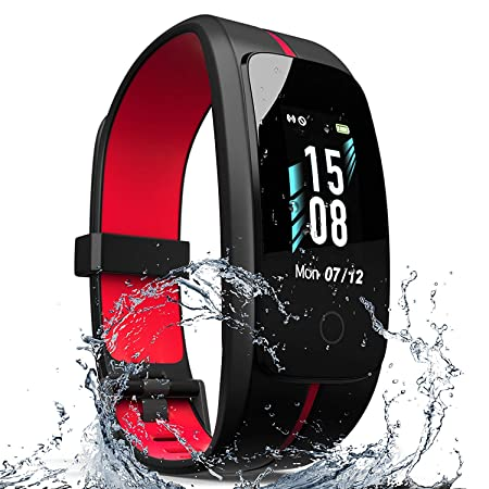 ZyMaSh Fitness Tracker IP68 Waterproof Fitness Watch – Smart Watch Heart Rate Fitness Tracker Activity Tracker Color Screen – Sleep Monitor – Fit Watch Tracker Pedometer for Men, Women, Kids