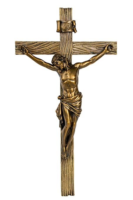 buy joseph studio wood inspired bronze wall cross crucifix jesus